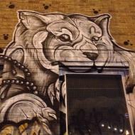 Lācis uz sienas Londonā